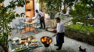 The CellarsHohenort Liz McGrath Villa Private Courtyard Dining